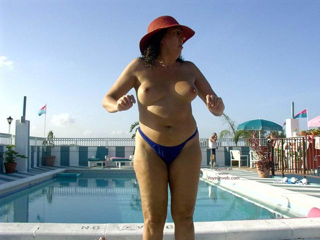 Pic #9 - Wife 48 At The Tiki Bar And Pool In South Fla
