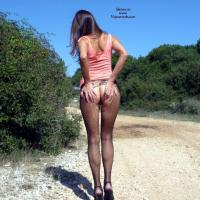 Walking on Heels in Nature - High Heels Amateurs, Lingerie, Nature, Dressed