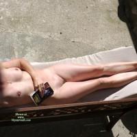 Annie (50) Sunbathing