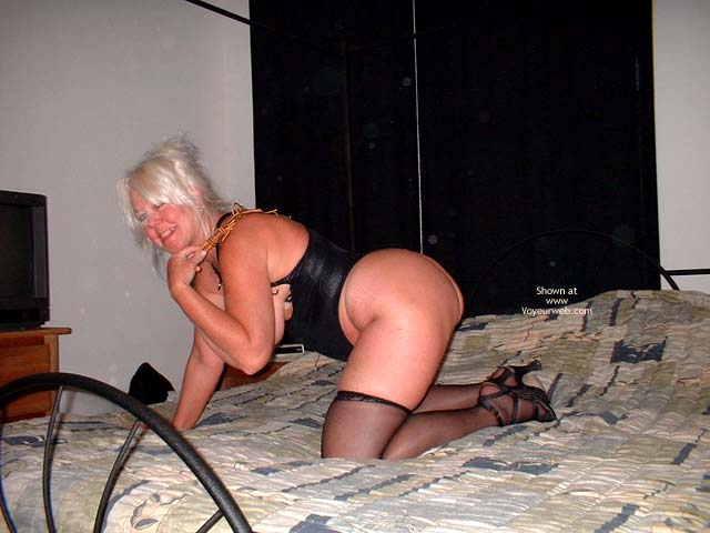 Pic #2 - Tammy In Black Mini And Stockings 2