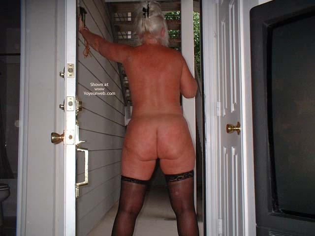 Pic #6 - Tammy In Black Mini And Stockings 2