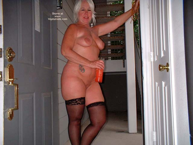 Pic #7 - Tammy In Black Mini And Stockings 2