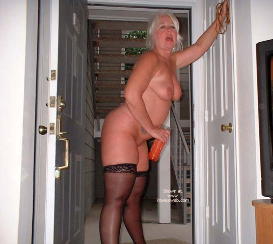 Pic #8 - Tammy In Black Mini And Stockings 2