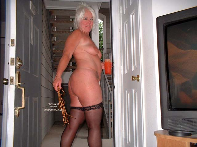 Pic #9 - Tammy In Black Mini And Stockings 2