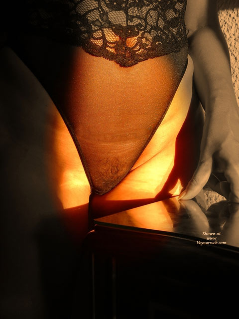 Pic #1 - Artistic Bush In See Thru Lingerie , Lingerie Pussy, See Through Black Teddy Lingerie, Lingerie, Body Stocking Reflecting, Black Sheer Lace Teddy, Tight Shot On Lighted Pussy, Golden Light And Shadows, Pubic Hair
