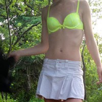 My 31 y/o Wife With Small Tits - Small Tits, Wife/Wives, Nature, Striptease, Pussy