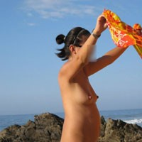 Pregnant Woman On The Nude Beach - Beach, Wife/Wives, Brunette