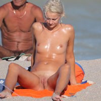 Horny Blonde - Blonde Hair, Beach Voyeur