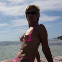 Medium tits of my wife - Sara