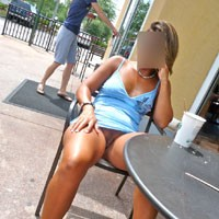 A Warm Day.. - Public Exhibitionist, Public Place, Big Tits, Blonde, Dressed, Pussy, Shaved