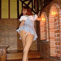 Ukrainian Beauty - Redhead, Dressed, Pussy, Small Tits
