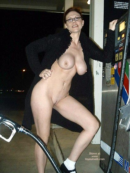 Pic #1 - Naked In Public - Nude In Public , Naked In Public, Full Frontal View, Nude Pumping Gas