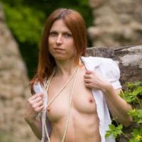 Nylon Pantyhose - Nature, Redhead, Pussy, Shaved