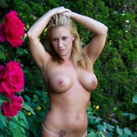 Rose Garden - Big Tits, Blonde Hair, Pussy Lips, Shaved