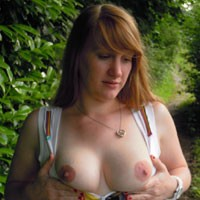 Au Bord de l'eau - Part I - Big Tits, Dressed, Nature, European And/or Ethnic, Pussy, Redhead