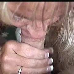 Andi The Cocksucker - Blonde, Blowjob, Cumshot, Hand Job