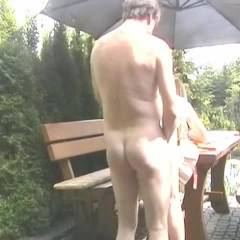 Finale in The Garden - Outdoors, Penetration Or Hardcore