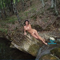 Tania Again - Brunette, European And/or Ethnic, Medium Tits, Natural Tits, Outdoors, Pussy, Wet