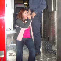 Alie Supporting a Local Firefighter - Blowjob, Public Exhibitionist, Public Place, Wife/Wives