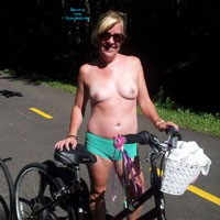 Bike Ride With GG - Blonde, Flashing, Public Exhibitionist, Public Place, Natural Tits, Pussy
