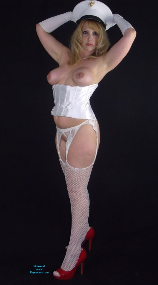 Pic #1One For The Boys in Uniform - Lingerie, Blonde, High Heels Amateurs, Big Tits, Pussy, Shaved, Uniform Porn
