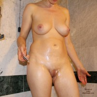 In The Bathroom Part 2 - Big Tits, Shaved