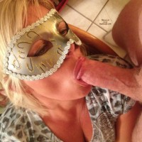 Lady K's Masked BJ - Blonde Hair, Blowjob