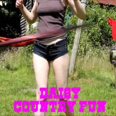 Daisy (Dukes) in The Country! - Big Tits, Hard Nipples, Masturbation, Outdoors, Redhead, Softcore, Shaved