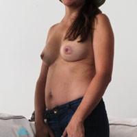 Shorts - Brunette, Round Tits, Hard Nipples, Medium Tits, Pussy