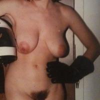 Medium tits of a neighbor - cheeky