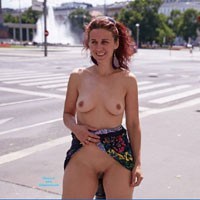 Lena Visit to Vienna - Exposed In Public, Flashing, Hard Nipple, Natural Tits, Nude In Public, Perfect Tits, Pussy Lips, Shaved