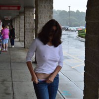 Hitching a Ride - Brunette Hair, Exposed In Public, Flashing, Nude In Public, Perfect Tits, Pussy Lips, Shaved, Sexy Ass
