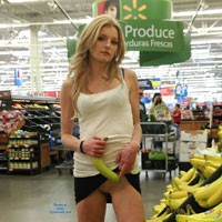 Walmart Flashing - Blonde Hair, Exposed In Public, Flashing, Nude In Public
