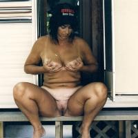 Medium tits of my wife - nervous mom