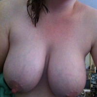 Very large tits of my wife - Nipples