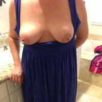 Wife's First Time - Testing The Waters - Big Tits, Striptease, Wife/Wives, Hard Nipples, Pussy, Shaved