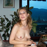 Balkan Girl On The Couch - Hard Nipples, Blonde, European And/or Ethnic, Medium Tits