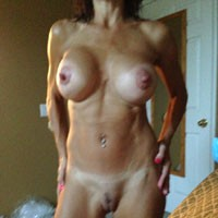Thought I Was Texting - Big Tits, Hard Nipples, Body Piercings, Pussy, Shaved