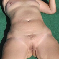 In The Sun - Bush Or Hairy, Mature, Medium Tits, Pussy, Wife/Wives