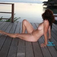 Betty Outside - Brunette, Medium Tits, Pussy