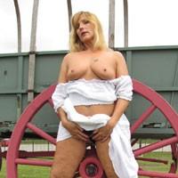 See-Thru Gypsy Pt 3 - Blonde Hair, Hard Nipple, Heels, Perfect Tits, Tattoo
