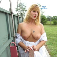 See-Thru Gypsy Pt 4 - Big Tits, Blonde, Hard Nipples, Pussy, Shaved, Tattoos