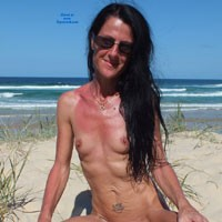 The QLD Sun - Beach, Brunette, Shaved, Small Tits, Natural Tits