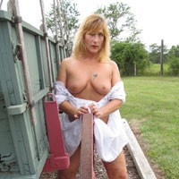 See-Thru Gypsy Pt 5 - Big Tits, Blonde, Dressed, Flashing, Outdoors, Tattoos