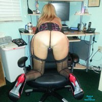 Some Office Fun - High Heels Amateurs, Lingerie, Blonde, Pussy, Shaved