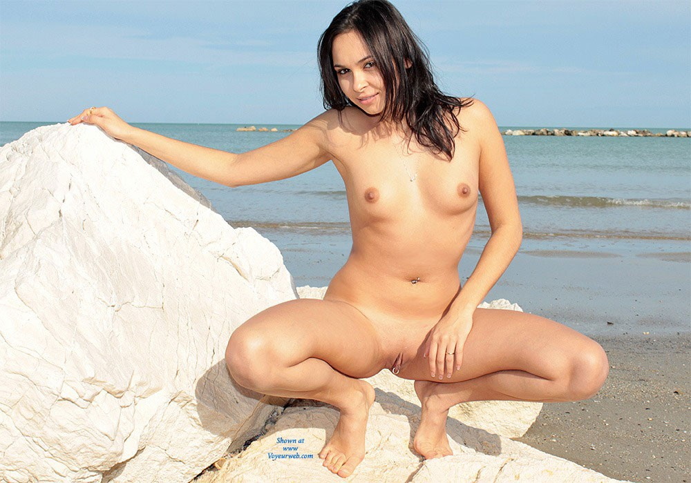Beautiful shaved pussy beach