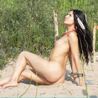 Amazon Goes .... - Brunette Hair, Hard Nipple, Pussy Lips, Shaved, Small Tits, Beach Voyeur, Sexy Ass, European And/or Ethnic