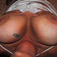 Extremely large tits of my wife - Christi