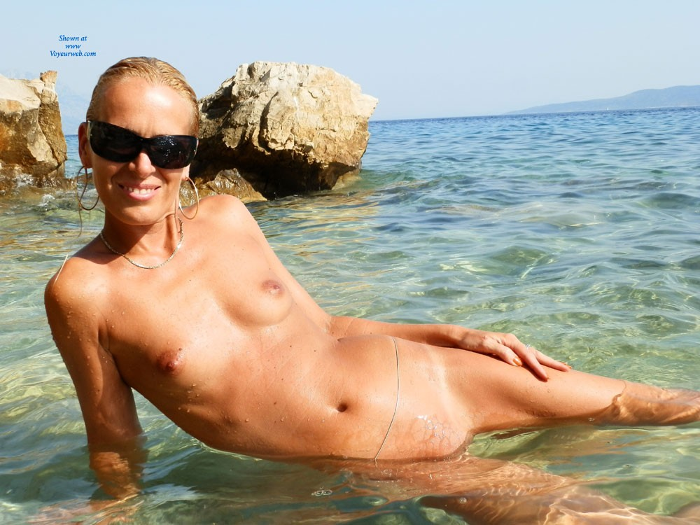 Makarska Riviera - Blonde Hair, Close Up, Hard Nipple, Pussy Lips, Shaved, Small Tits, Wet, Beach Voyeur, Sexy Ass , I Found This Beach, Where I Could Enjoy The Water And The Sun Only Naked. It Was A Big Challange To Select The Photos For VW. Enjoy Them!