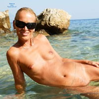 Makarska Riviera - Beach, Blonde, Shaved, Small Tits, Close-Ups, Firm Ass, Hard Nipples, Pussy, Wet